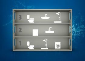 Το SCALA2 είναι τελειοποιημένο για τη χρήση σε οικίες με μέχρι 3 ορόφους και 8 βρύσες